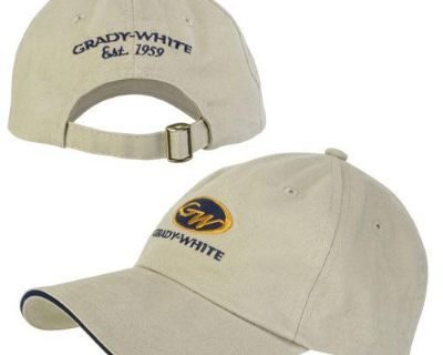 Grady White Boats Stone Unstructured Hat Cap