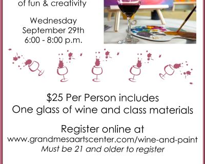 Paint & Wine Night at Grand Mesa Arts & Events Center
