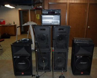 Drum set and PA system