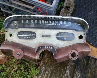 1958 Chevy Impala Bel Air Dash Cluster Speedometer Gauges  58 348 RARE 409