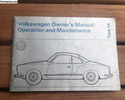 Owners Manual Book Type 14 Ghia