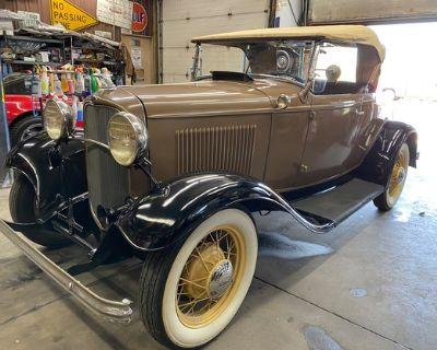 1932 Ford Deluxe 2-door All-Steel Barn Find Convertible Deluxe Flathead Original Roadster