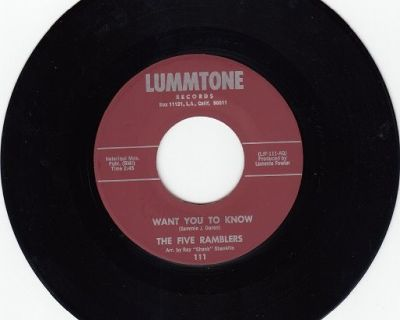FIVE RAMBLERS ~ Want You To Know *Mint-45 !
