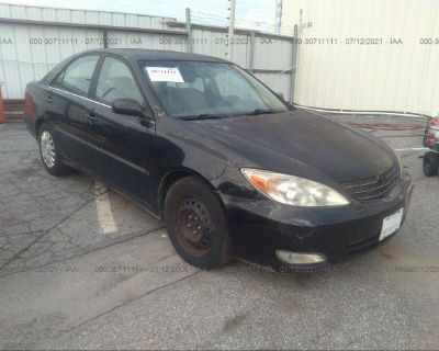 Salvage Black 2003 Toyota Camry