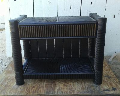 Black bamboo table