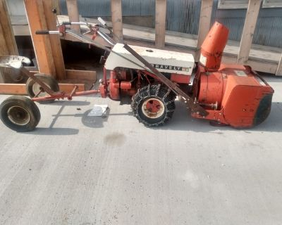 Gravely commercial 12 power unit with snow blower and seat