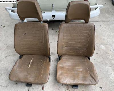 VW Bus front seats