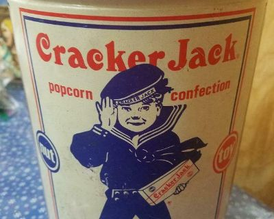 Vintage 1990 Limited Edition Cracker Jack Tin 11 Oz. Empty Can Only!