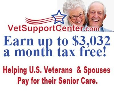 Aid and Attendance * Long Term Care for 65+ VETERANS - Earn up to $3,032/month