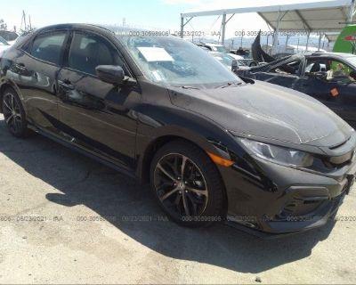 Salvage Black 2021 Honda Civic Hatchback