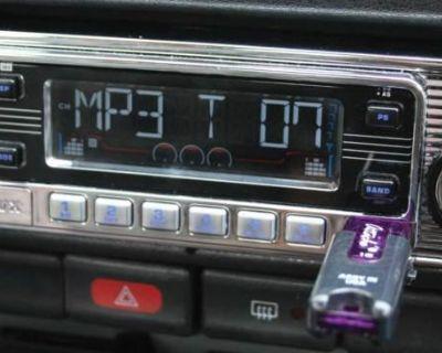 70's Classic Becker Style Am Fm Cd Usb Ipod Mp3 3.5 Input 160 Watt Stereo Radio