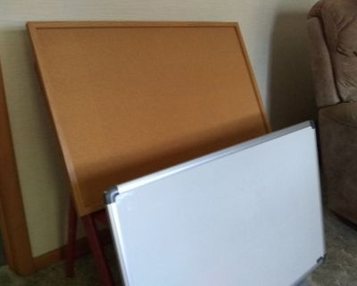 """Dry Erase Board with Marker Tray, 36"""" x 24"""","""