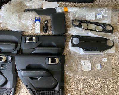 Illinois - Leather w/grey stitching interior parts - brand new oem