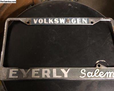 Eyerly Salem Volkswagen license plate frame