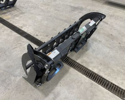 60� Compact Tractor Dual Cylinder Grapple Rake - Skid Steer Mount