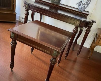 Matching sofa table and side table from Bombay Company