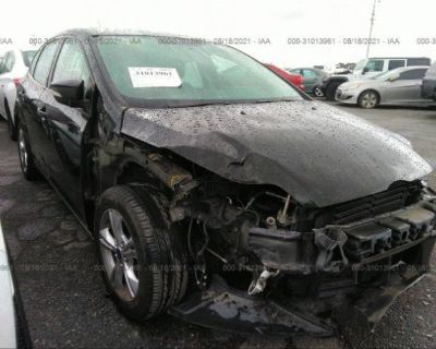Salvage Black 2014 Ford Focus