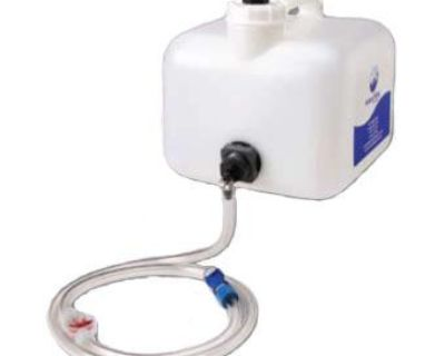 Bfs/bwt 2.5 Gallon Golf Cart Gravity Feed Battery Fill Tank With Blue Connector
