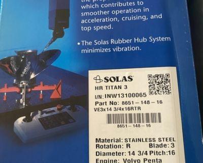 Solas 3-blade Stainless Steel Prop