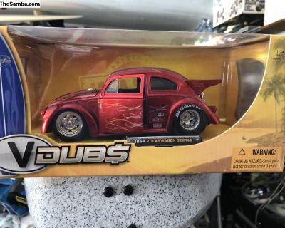 Jada VW Beetle Drag Model Toys Boxed - Blue/ Red
