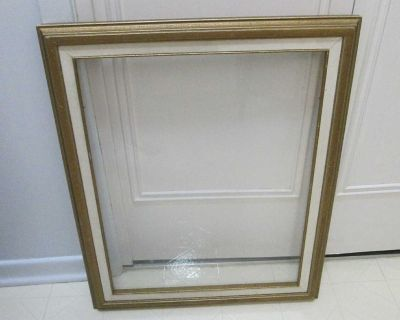 Large wooden frame with glass