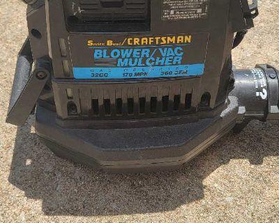 Sears Best/CRAFTSMAN BLOWER/VAC MULCHER GAS 170 MPH 360 CFM