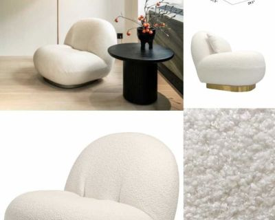Boucle Chair With Pillow