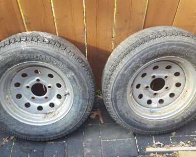 """Trailer tires and wheels 13"""""""