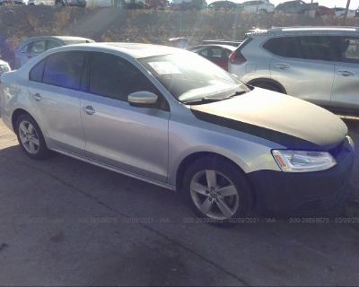 Salvage Silver 2012 Volkswagen Jetta Sedan