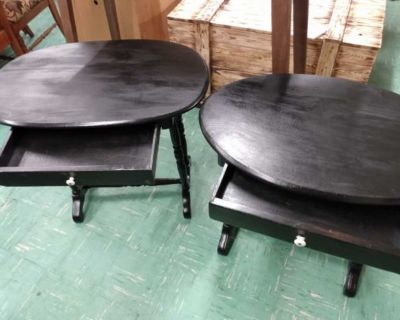 Pair of end tables with a drawer