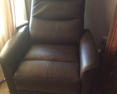 Small space Hercules Chocolate recliner 360 degree rotation/ rocking