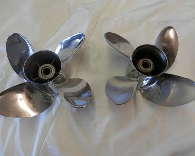 Powertech Stainless Steel Props Four Blade 23 Pitch Right N Left Boat Part Bravo