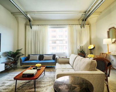 Contemporary Dtla Loft With a Vintage Flair in the Heart of the Broadway Theatre District, Los Angeles, CA