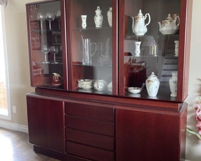 Gorgeous Cherry Dining Room Hutch!