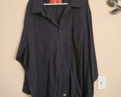 4X, DICKIES, NAVY BLUE SHIRT, EXCELLENT CONDITION, SMOKE FREE HOUSE