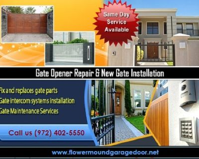 Best Possible Service for Automatic Gate Opener Repair ($25.95) Flower Mound Dallas, 75022 TX