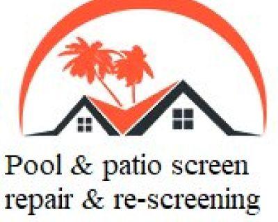 Pool & patio screen repair and re-screening