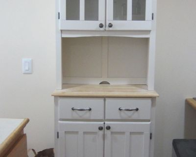 like new microwave cart/cabinet