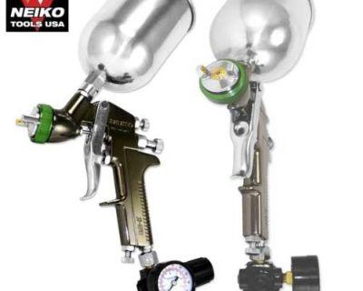 1.5mm Hvlp Gravity Feed Spray Gun Air Painting Coat Pro Compressor Shop Tools