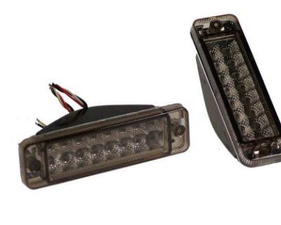 Vw Jetta Golf Mk1 Mk2 Smoked Led Turn Signal Bumper Marker Lights - Light Smoke