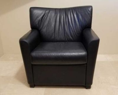Chair black leather by Metro