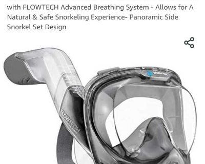 Wildhorn Outfitters Seaview Snorkel Set Panoramic Full Face Mask New!