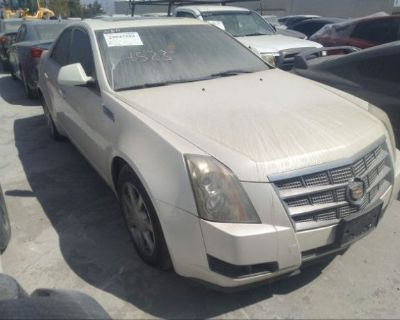 Salvage White 2008 Cadillac Cts