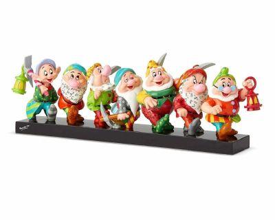 Britto Disney Seven Dwarfs on Log Figurine