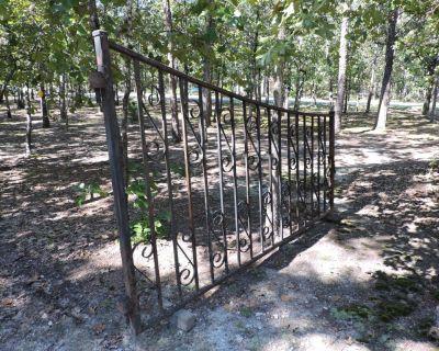 Vintage iron entry gates