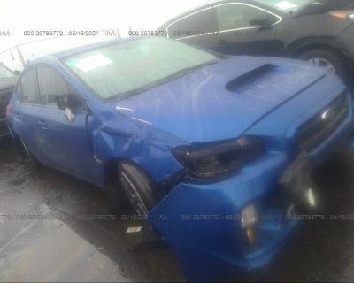 Salvage Blue 2015 Subaru Wrx