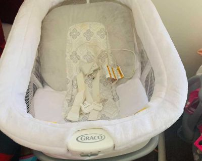 Bassinet and other items.