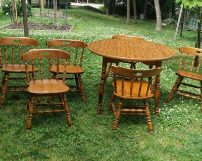 Dining Table with Six (6) Chairs - Wood