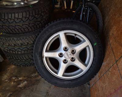 "Winter Tires & Wheels! General Altimax Arctics on 16"" Firebird 5 spoke wheels"