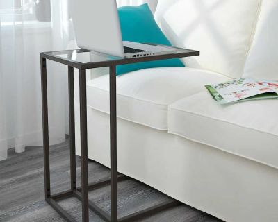IKEA VITTSJO Laptop Stand Couch Sofa End Side Table